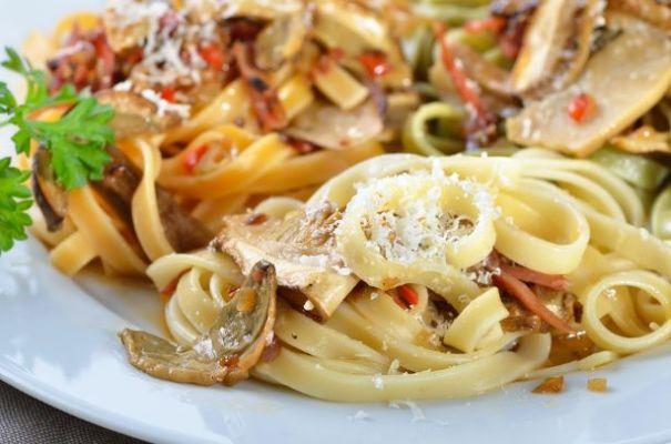Pasta mit Pilzen vegetarisch