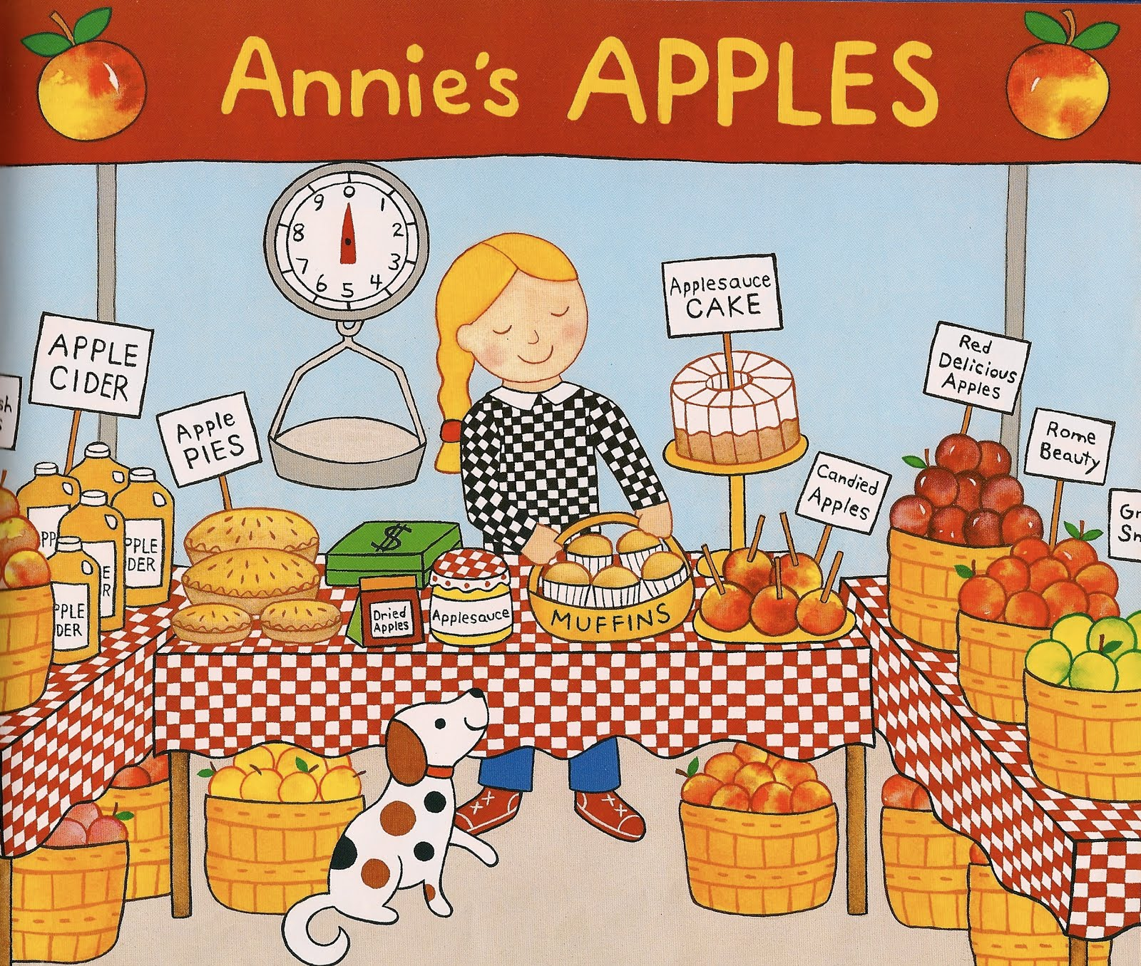 Apple Farmer Annie Seed To Farmers Market Kids Yoga Lesson Plan