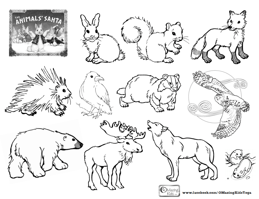 The Animals Santa An Omazing Kids Lesson Plan Amp Free Printable Coloring Page