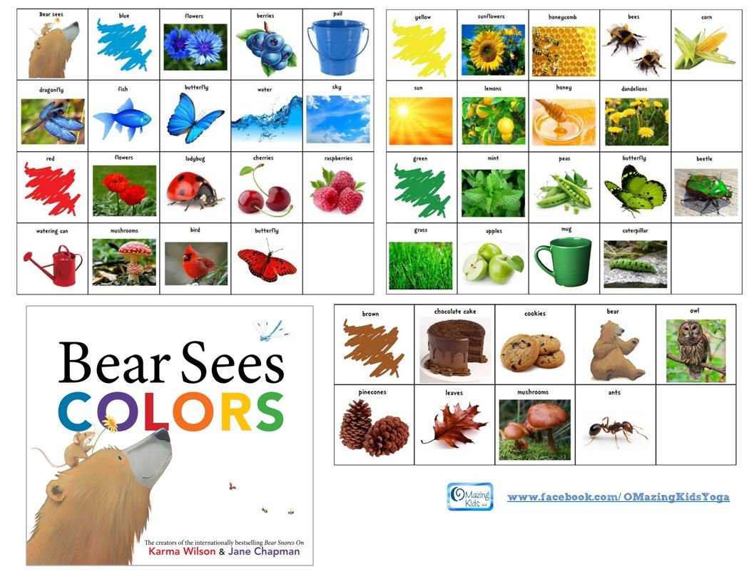 Free Printable Symbols For Bear Sees Colors By Karma Wilson Amp Jane Chapman