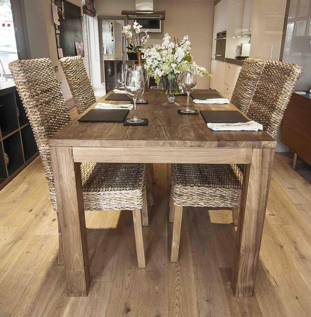 8 Chair Dining Set 200cm Reclaimed Teak Dining Table With 8 Chairs Of Any Style