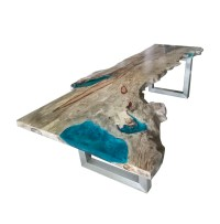 Live Edge Table With Resin - The Best Table 2018