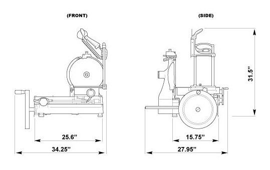 14-inch Diameter Blade Manual Volano Slicer with Standard