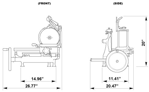 10-inch Diameter Blade Manual Volano Slicer with Standard