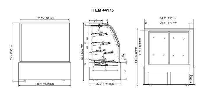 35-inch Refrigerated Floor Showcase