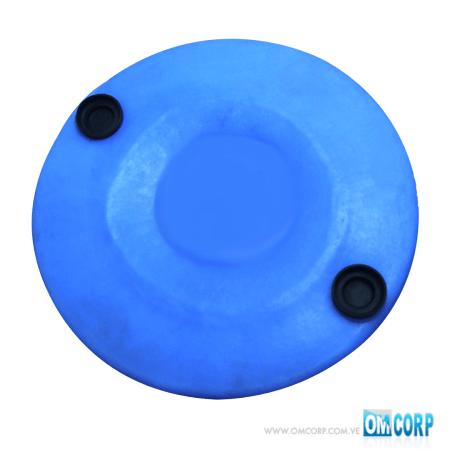 Tambor Plastico 220 Litros Azul Cerrado Con Dos Tapas MIA80575P
