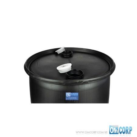 Tambor Plastico 208 Litros Negro Grado Alimenticio MIA20764P
