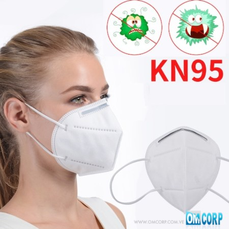 Mascarilla KN95 Protectora Blanca 5 Capas 95% Filtrado FDA SEUMEK