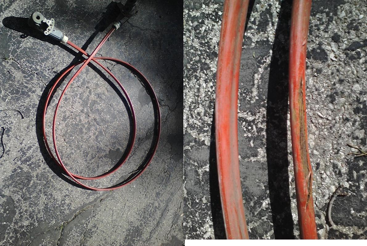 hight resolution of omc true coarse steering cable 17ft