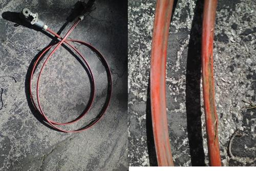 small resolution of omc true coarse steering cable 17ft