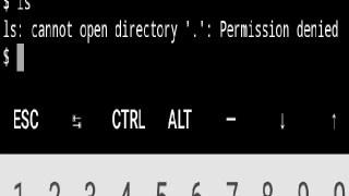 Error cannot open directory
