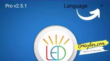 Menu ubah bahasa power led pro