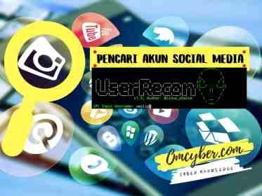 Pencari akun social media userrecon