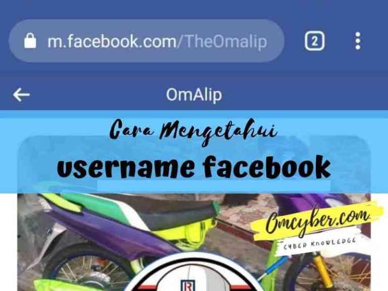 cara mengetahui username facebook