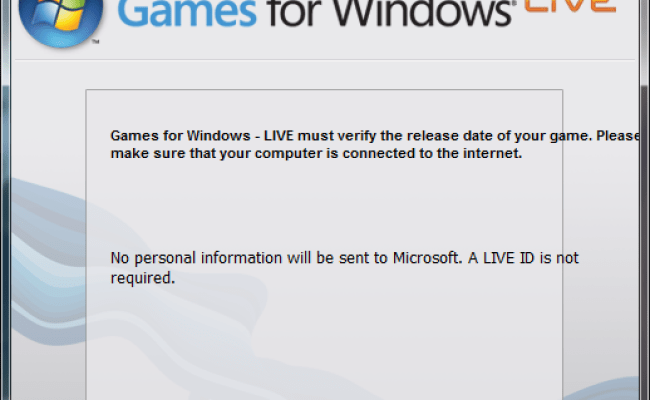 Games For Windows Live Really Spinning Mirrors
