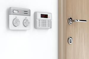 Room temperature and alarm control panels
