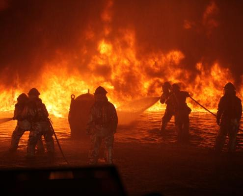Firemen fighting fire