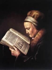 Gerard_Dou_-_Old_Woman_Reading_a_Bible_-_WGA06639