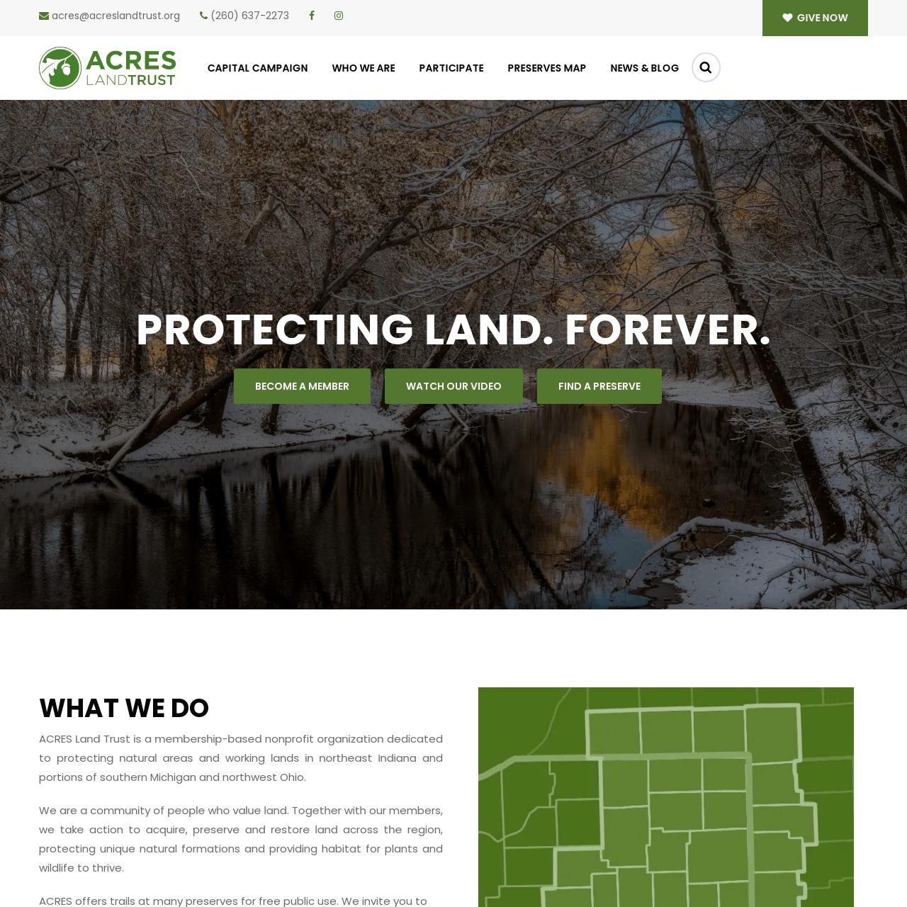 Acres Land Trust Screenshot