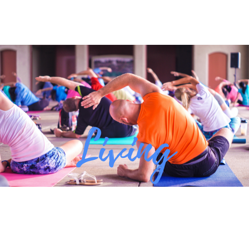People doing Stretches at a Yoga Class
