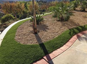 OmegaTurf accent landscaping