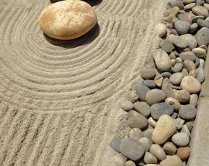 OmegaTurf zen stone landscaping