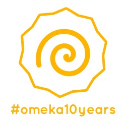 logo for #omeka10years