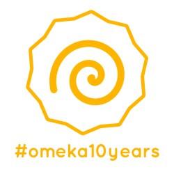 logo for #omeka10years