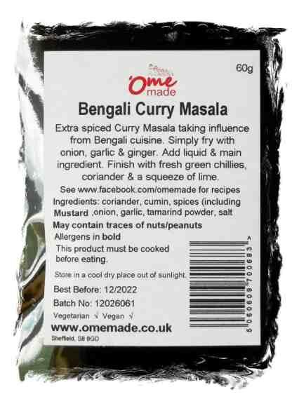 Bengali Curry Masala Back