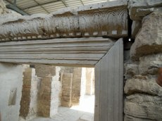 Hellenistic stones recycled into church