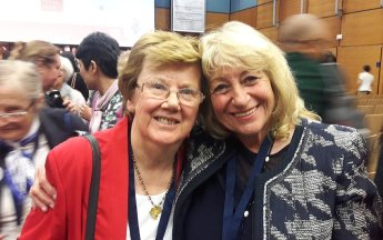 Prof. Audrey Curtis (former World President of OMEP) and Prof. Elena Roussinova