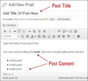 Criar artigo novo no WordPress