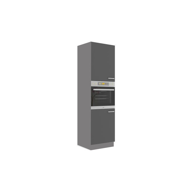 meuble colonne four 2 portes cuisine scarlett 60