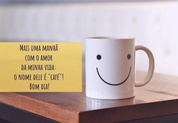 Bom dia com cafezinho.