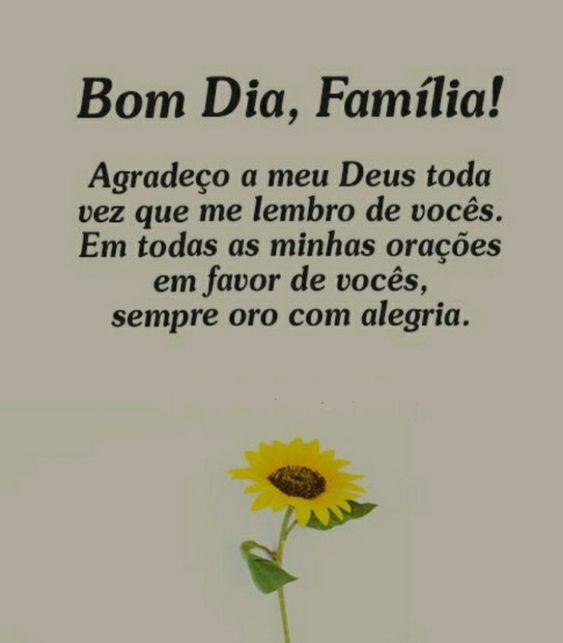 mensagem de bom dia para família.