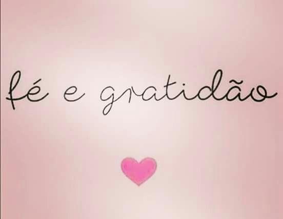 Frases curta de fé e gratidão.