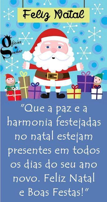 Um Natal maravilhoso para você e sua família.