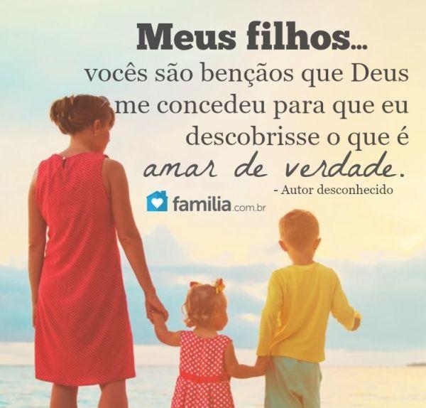 amor verdadeiro é de filhos