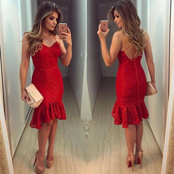 Imagem vestido vermelho.