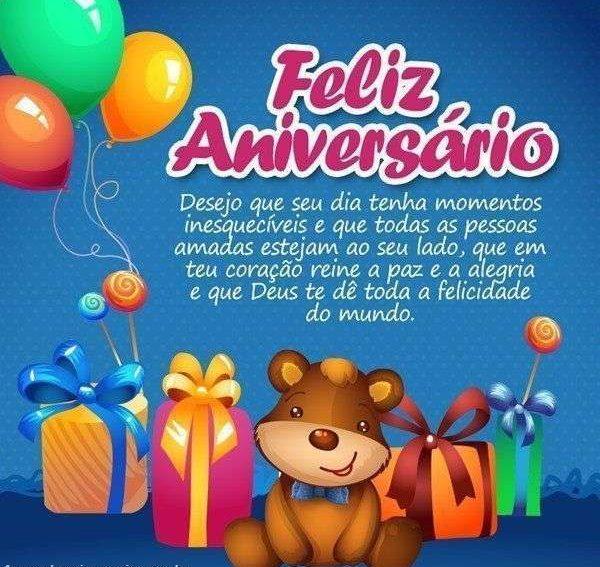 feliz aniversario ursinho