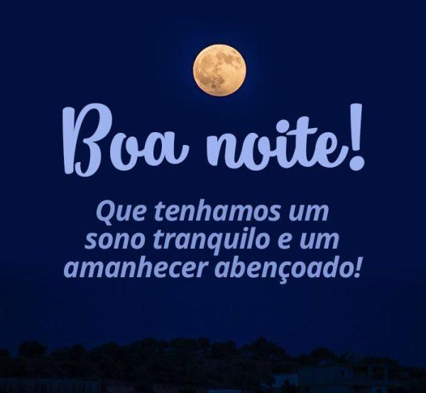Boa noite linda e tranquila