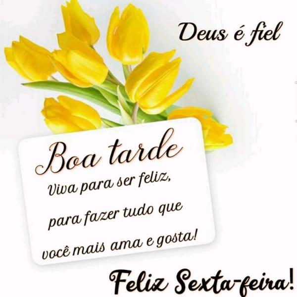 Seja grata e feliz pelas graças de Deus nessa tarde de sexta