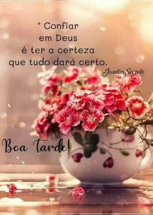 Confie em Deus e tudo dará certo