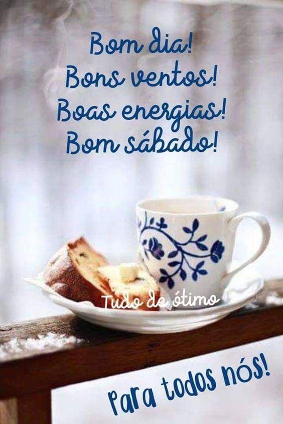Bom sábado com bolo e café