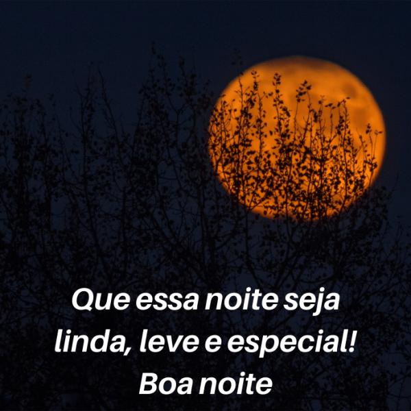 Boa noite especial e linda