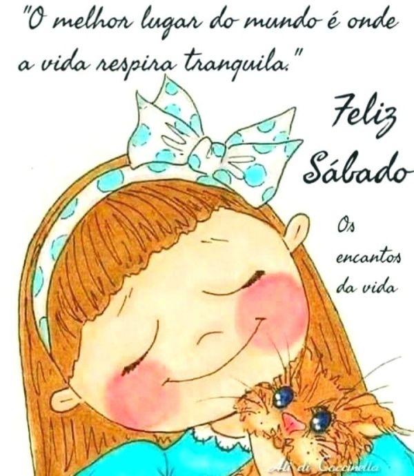 Feliz sábado tranquilo e feliz