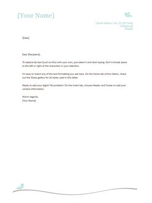 resume cover letter word template - Resume Letterhead Examples
