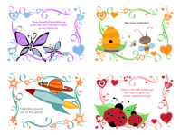Kids Valentine's Day cards (24 designs) - Office Templates