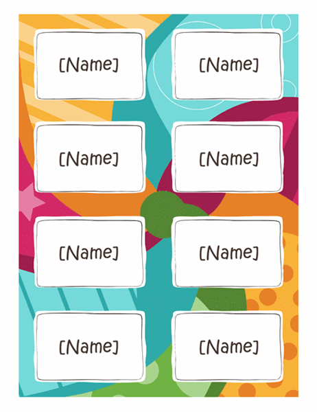 avery name tag template 5395