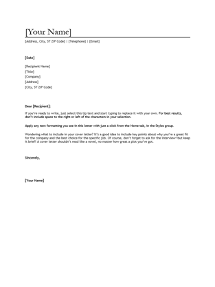 Free Resume Cover Letters Free Cover Letter Examples 4 Resume